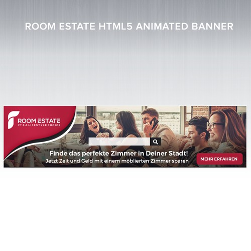 Animated Banner Design for Room Provider in Switzerland