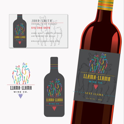 Llama Llama Wine label and logo
