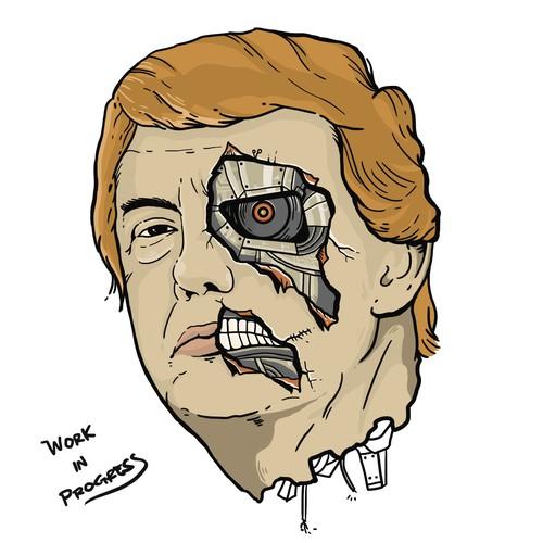 trump terminator shirt entry