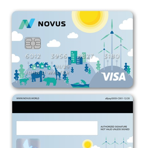 Debit Card with Illustration