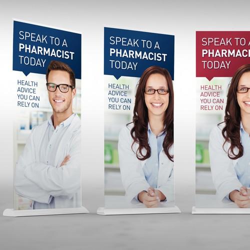 Retractable banner: Consumer medicine