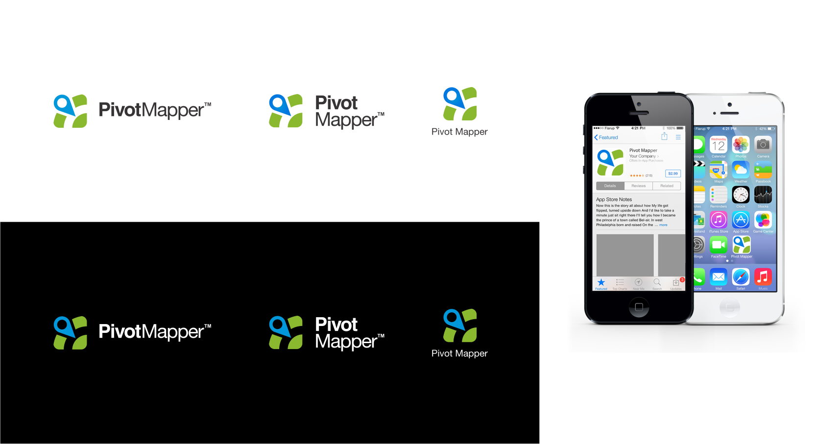 Logo design for new Cloud-based mapping app--pivotmapper.com--let's have some fun!