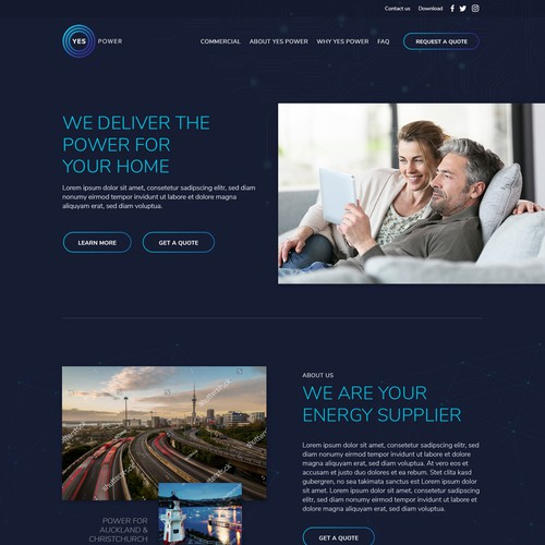 Web design for Energy Provider
