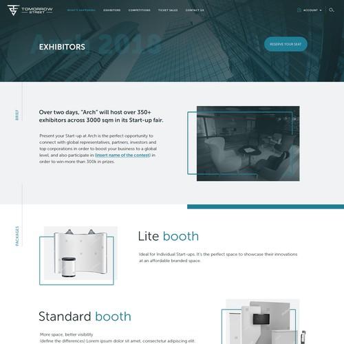 Website for start up event