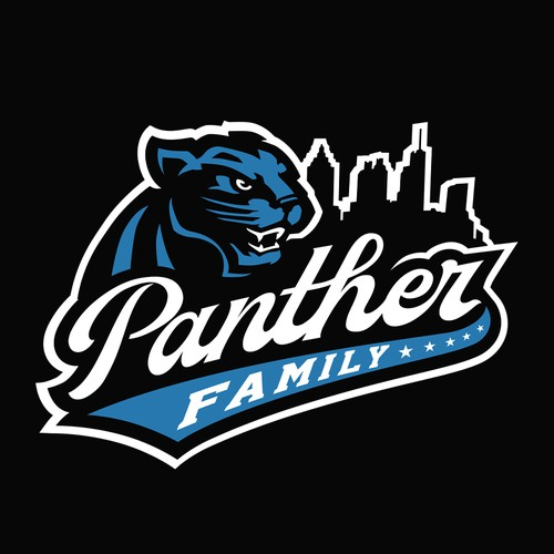 Panther Family Basketball Team Logo