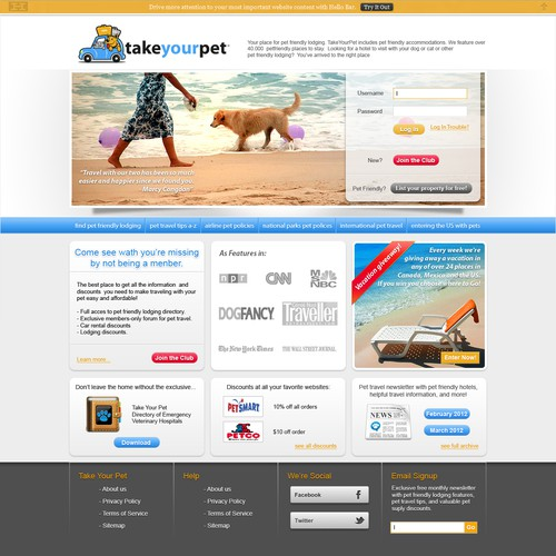 take your pet page