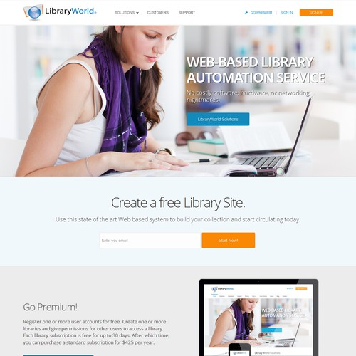 Web design for LibraryWorld