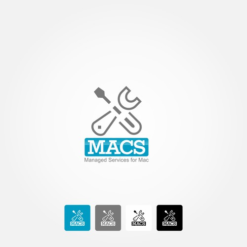 Logo concept for a mac service