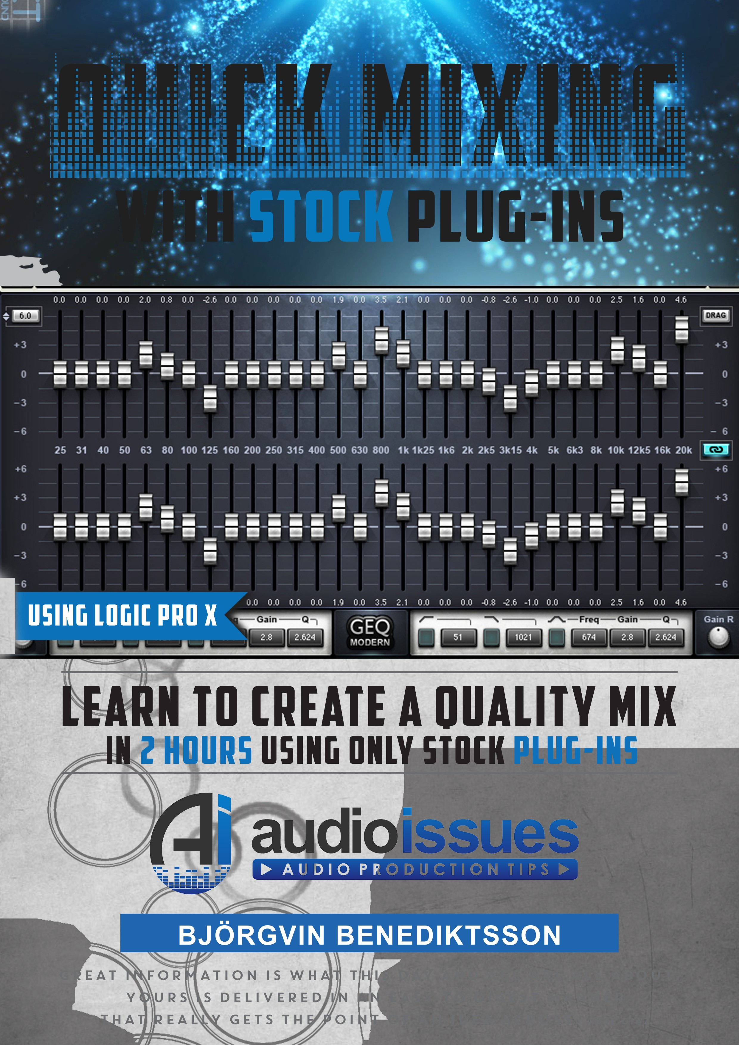 Create a Music Mixing Poster for an Audio Tutorial Series