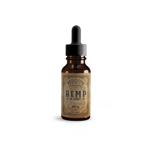 Hipster Style Tincture Label for Purity