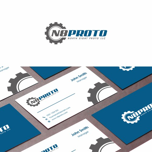 Bold logo concept for Mechanical Prototyping Company N8 Proto