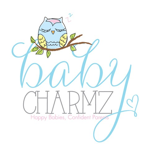 Create a logo for a small business helping struggling young families.  Baby Charmz!