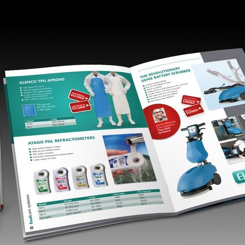 Design Foodcare Systems 8 page bi-monthly flyer