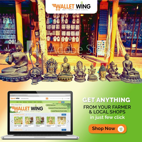 Banner ad for Walletwing