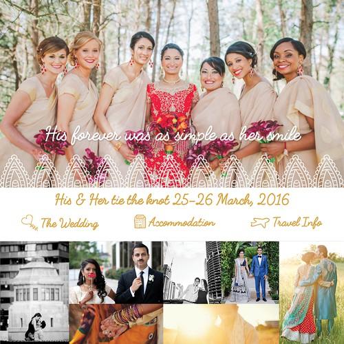 Indian Wedding Website Homepage