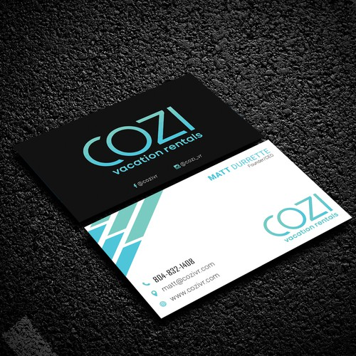 COZI Vacation Rentals Business Card Design