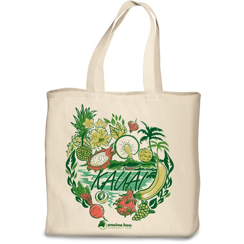 Kauai illustration design for bag