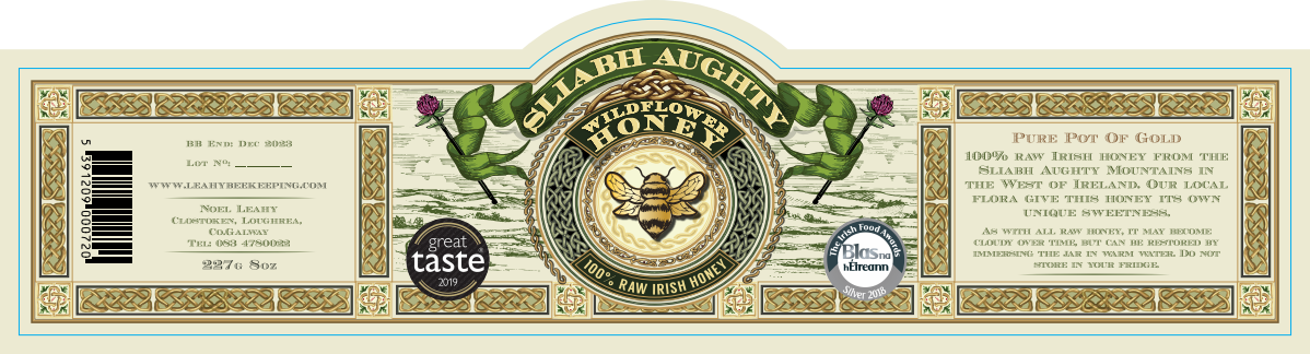 label for raw natural honey