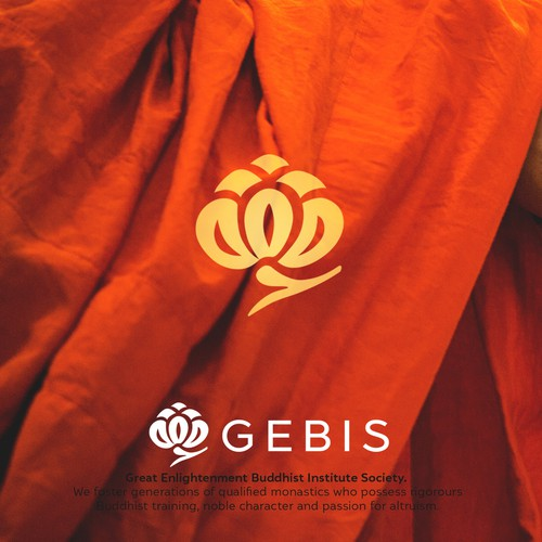 Logo for a Buddhist Monastery with largest amount of monks in north America.