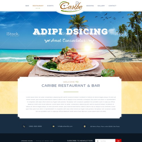 Caribe Restaurant & Bar Website Design