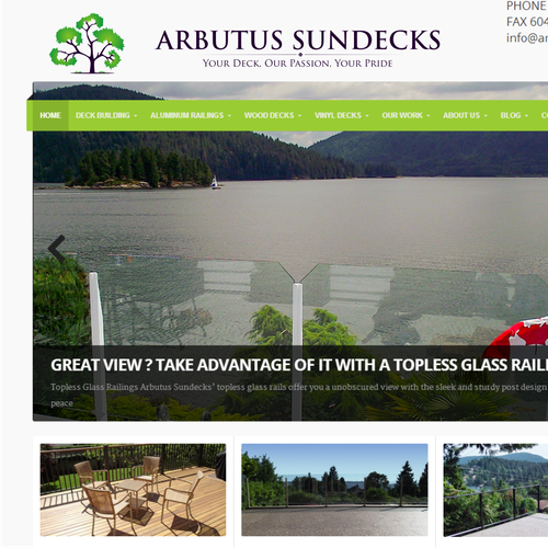 Help Arbutus Sundecks with a new logo