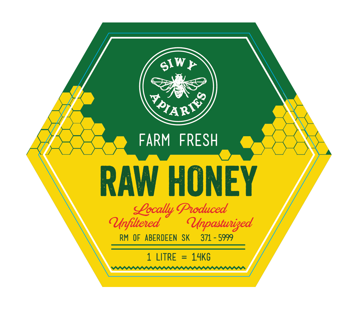 Label for a Honey Jar