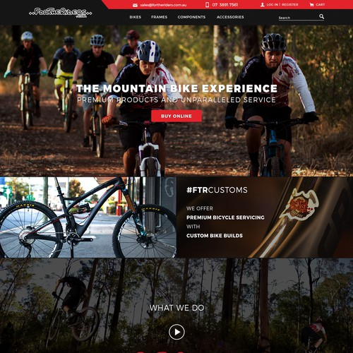 Webdesign for Bike shop