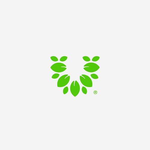 Leaf Letter U Logo