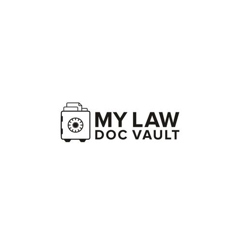 My Law Doc Vault logo design