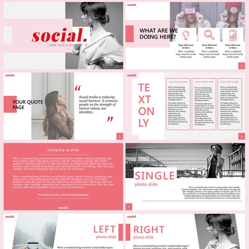 Bright woman-targeted presentation