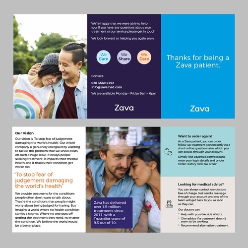 A6 trifold leaflet