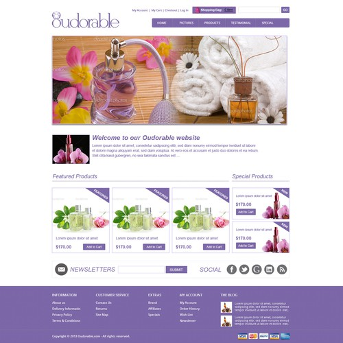 website design for Oudorable