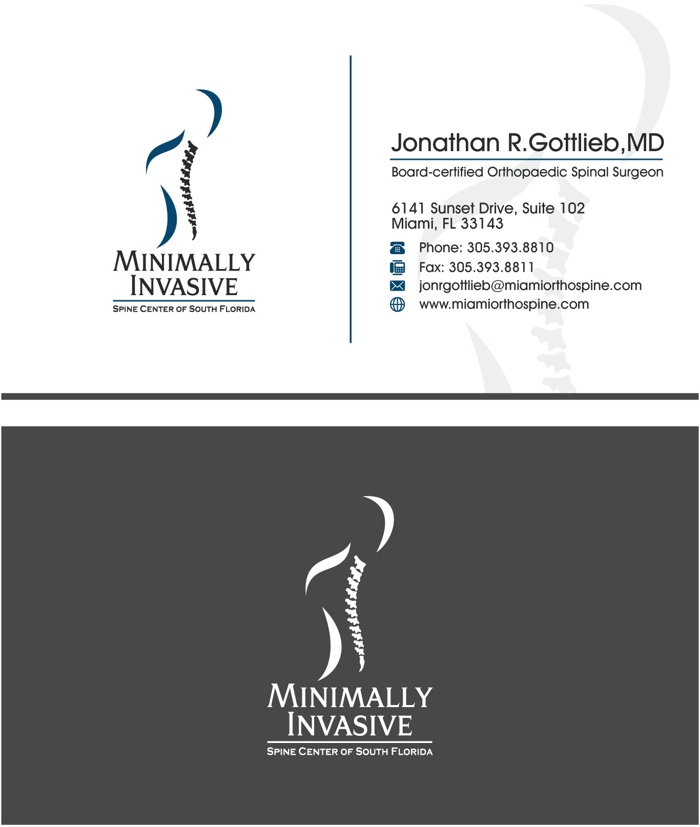 business card minimally invasive