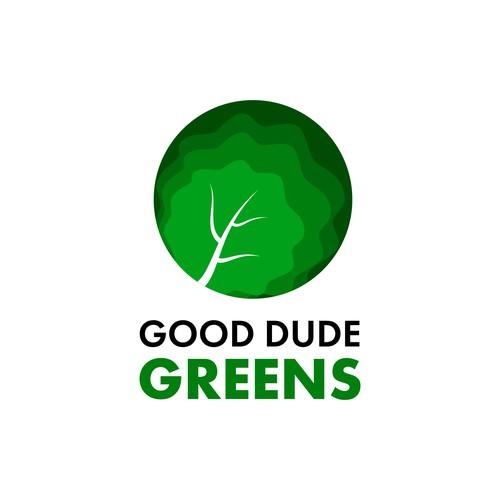 Good Dude Greens - Logo Design Concept