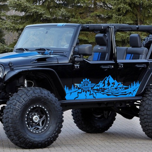 Hardcore decal design for a Jeep Wrangler