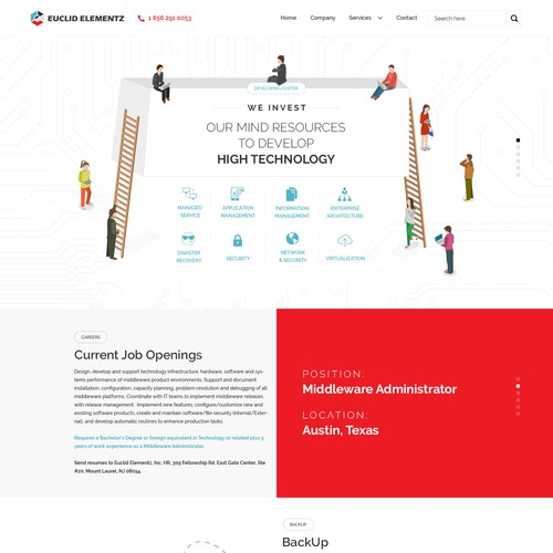 Creative Website For Network Security Firm