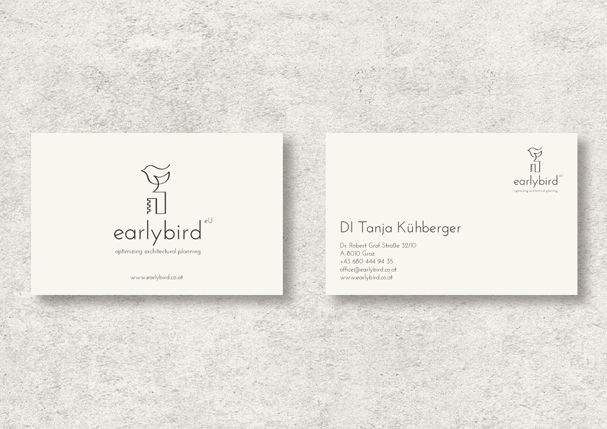 Logo-Design >>earlybird - optimizing architectural planning<<