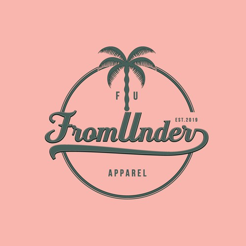 Logo for a trendy beach clothing line