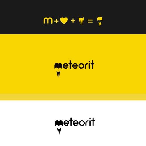 logo concept based on meteor