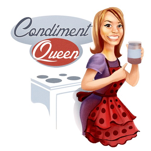 Cute 50's style illustration needed for condiment brand logo