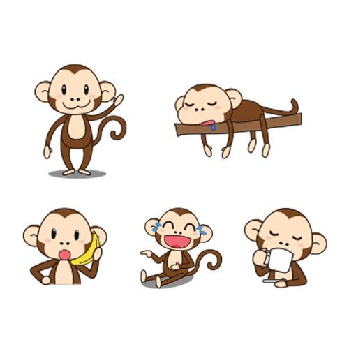 Monkey Sticker Design