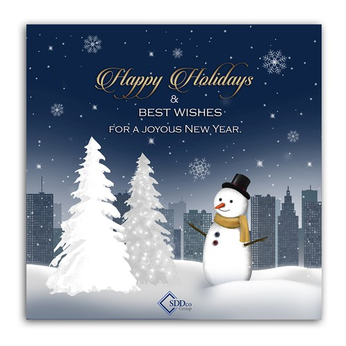 Holiday Card design/illustration