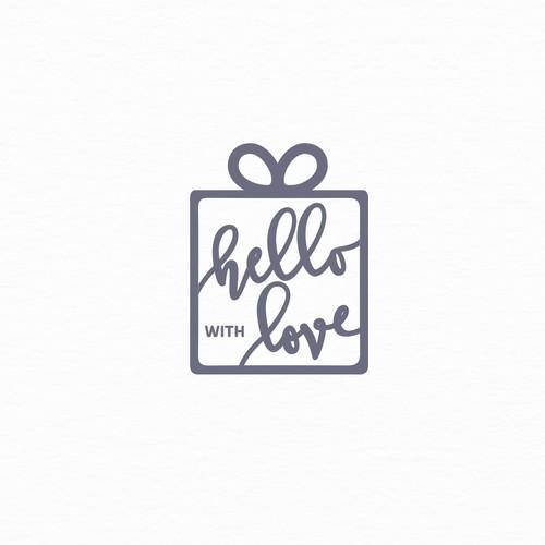 Hand lettered ligo for gift subscription box