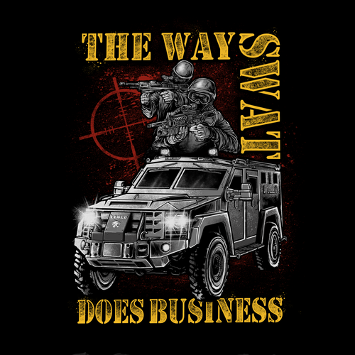 SWAT t-shirt design