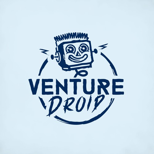 Energetic logo for apparel shop Venture Droid