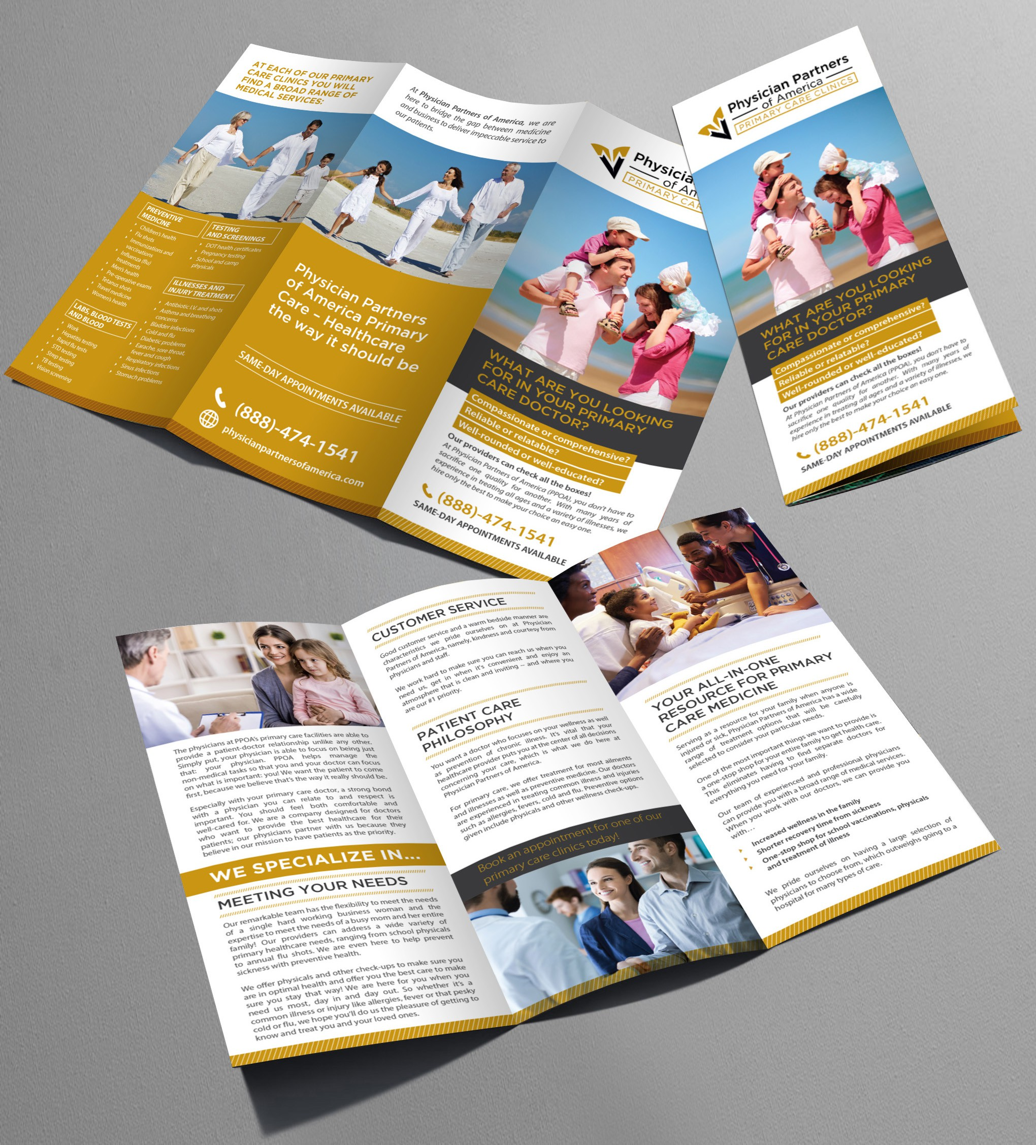 Primary Care Trifold Brochure