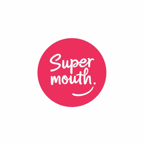 wordmark logo for Supermouth