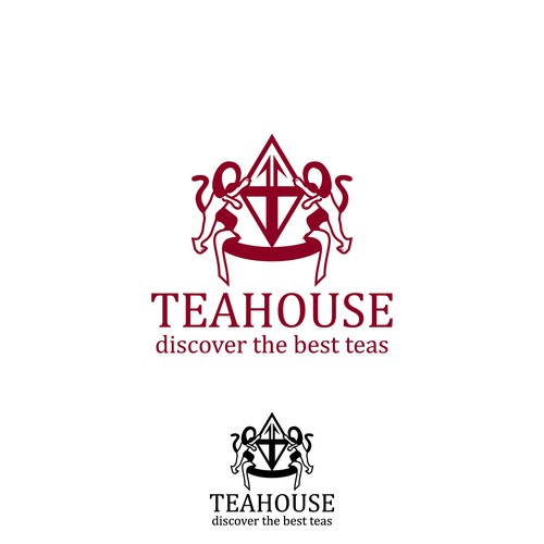 Monochrome logo for tea company