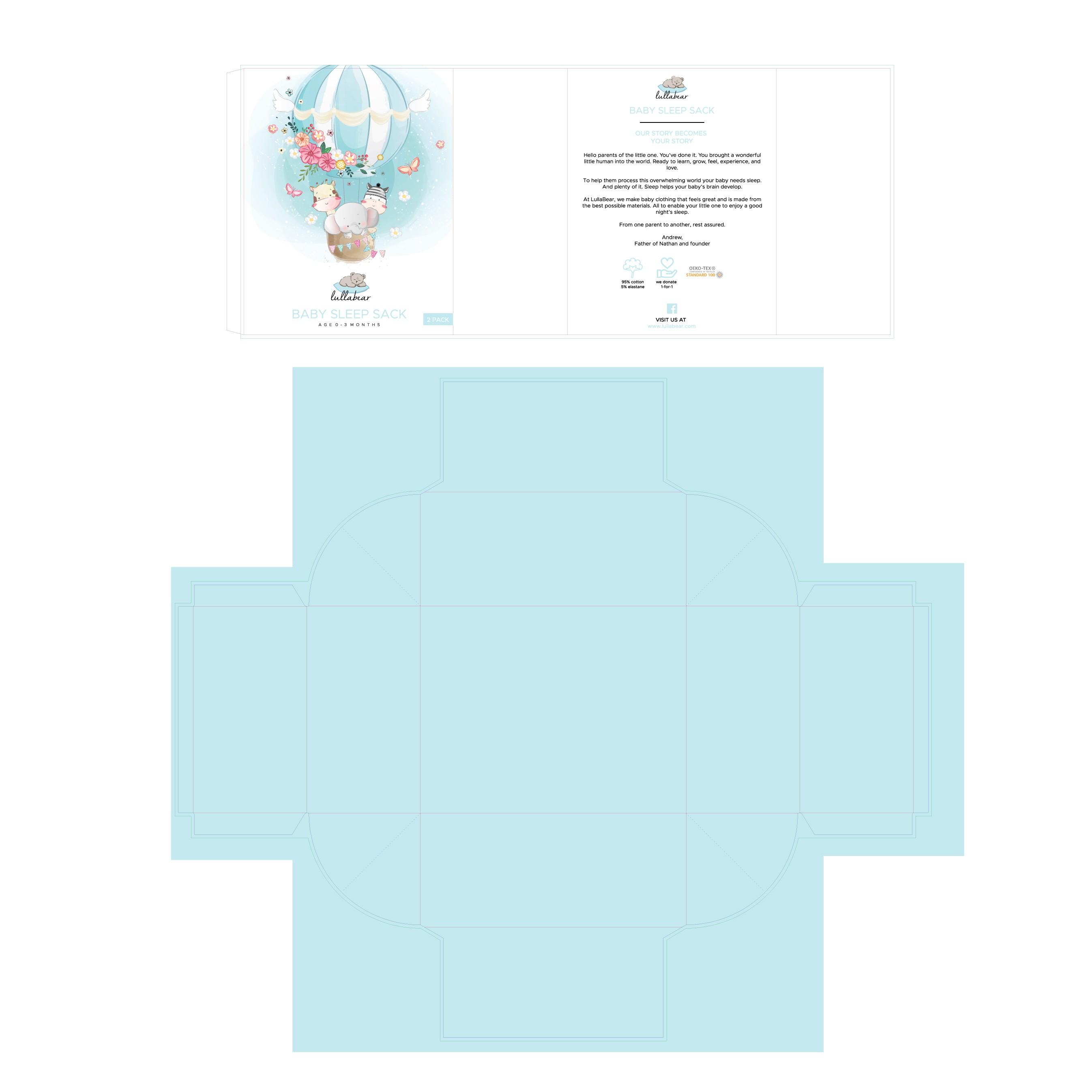 Baby sleep sack (0-3 months) neutral design
