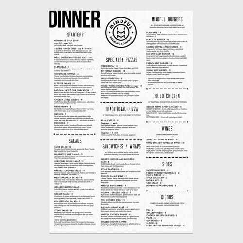 BW menu